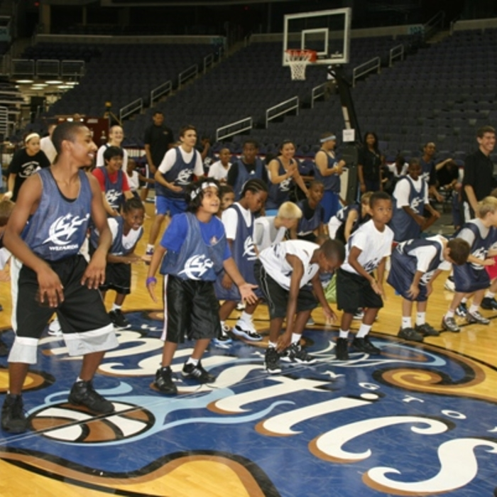 Wes Unseld and JaVale McGee Visit Camp