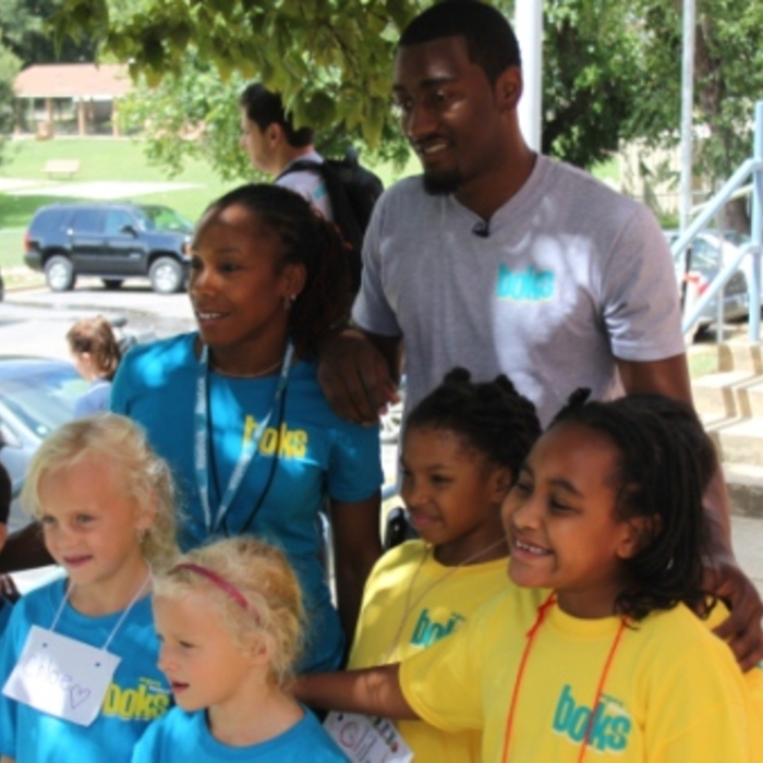 John Wall at Hunter Elementary School