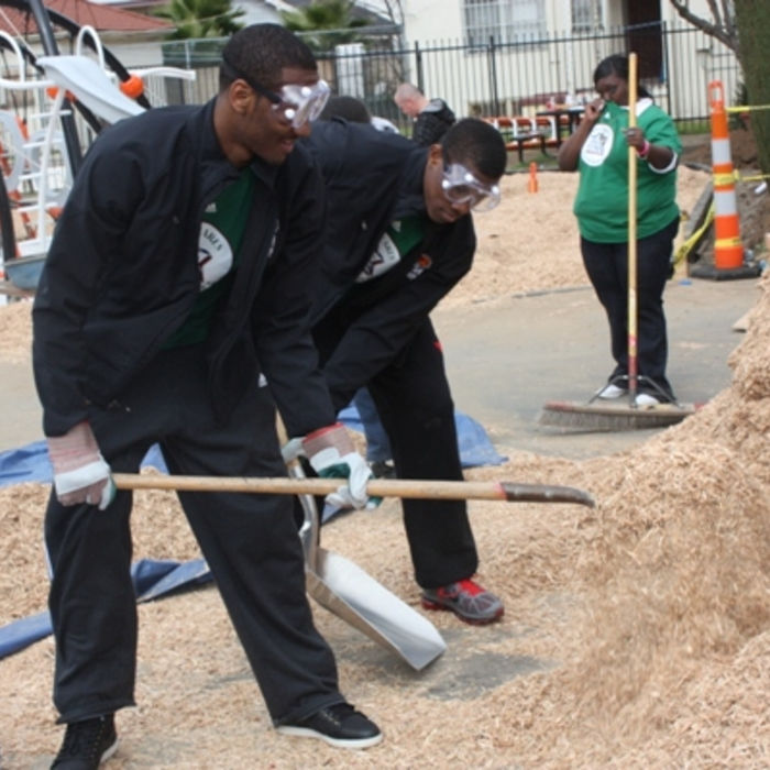 Wall Participates in NBA Cares Day of Service