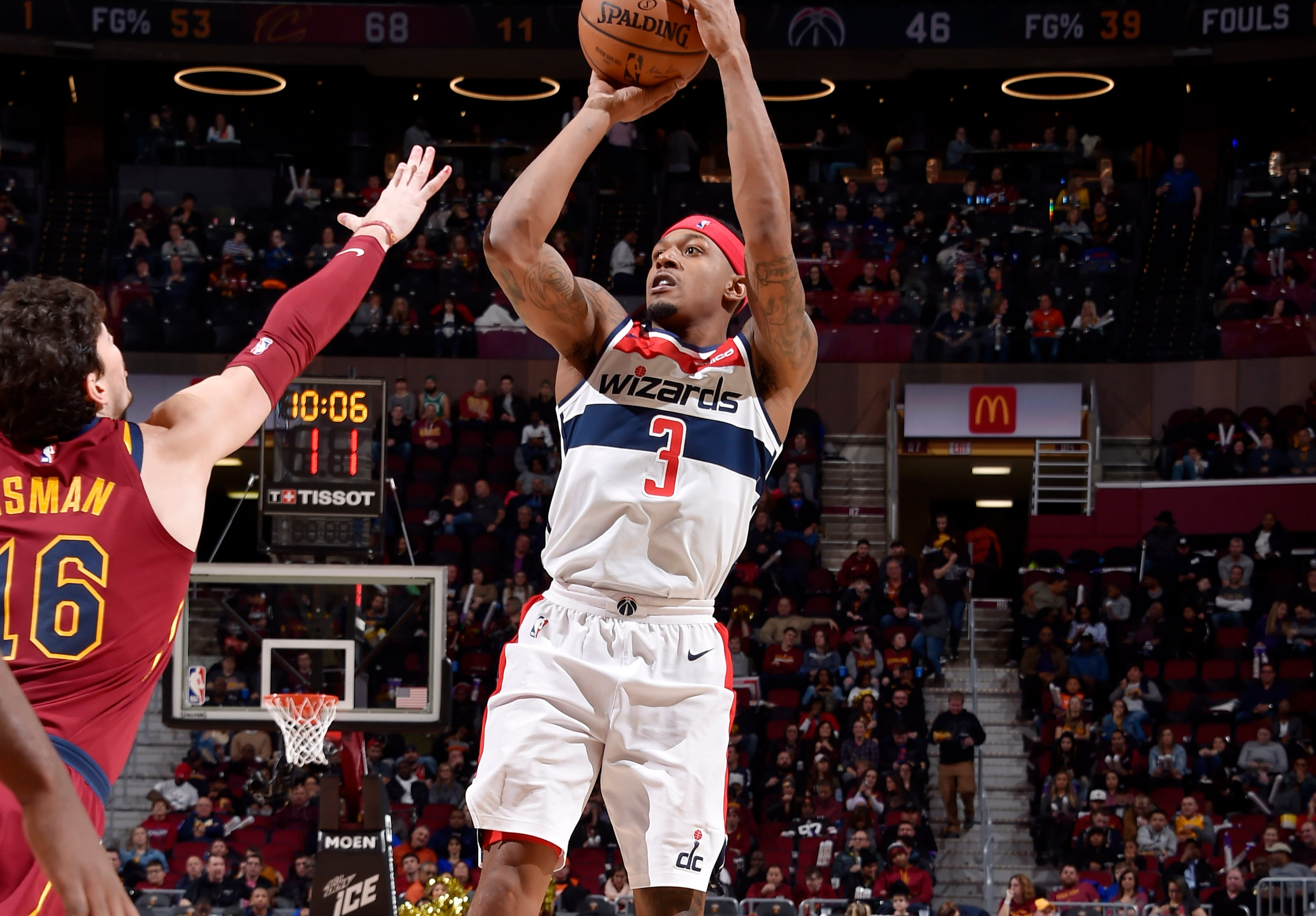Wizards fall in Cleveland 116-101