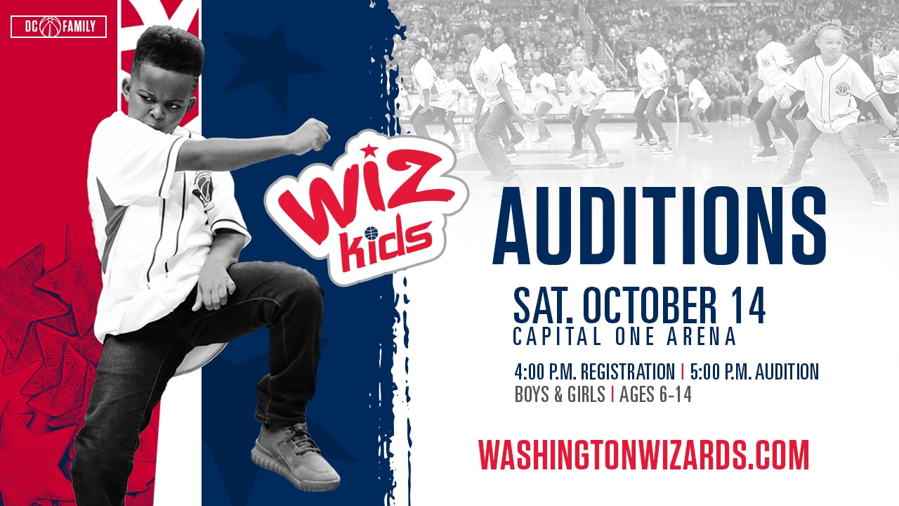 The Washington Wizards Are Looking Talented Energetic Young Kids For Their Wiz Dance Team Join Us As We Host Open Call Auditions